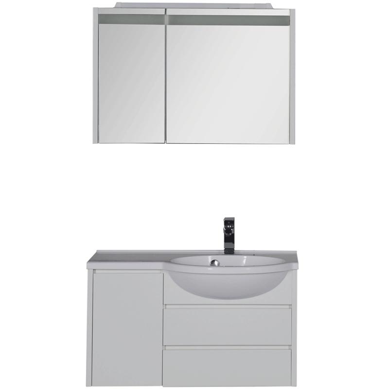 Комплект мебели для ванной Aquanet Лайн 90 R 167611 Белый aquanet лайн 90 r камерино со свет 164934