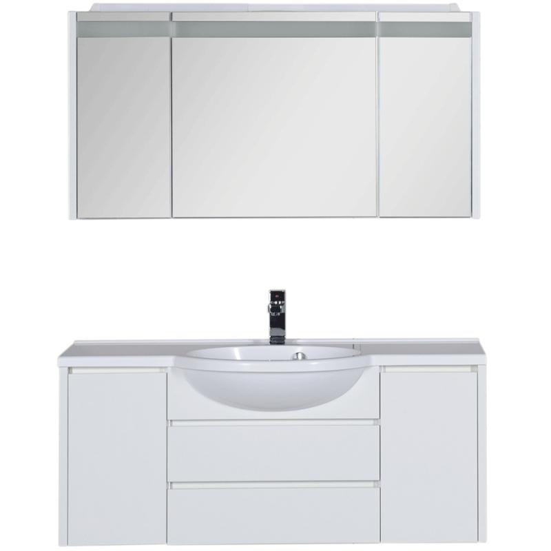 Комплект мебели для ванной Aquanet Лайн 120 167608 Белый aquanet лайн 90 r камерино со свет 164934