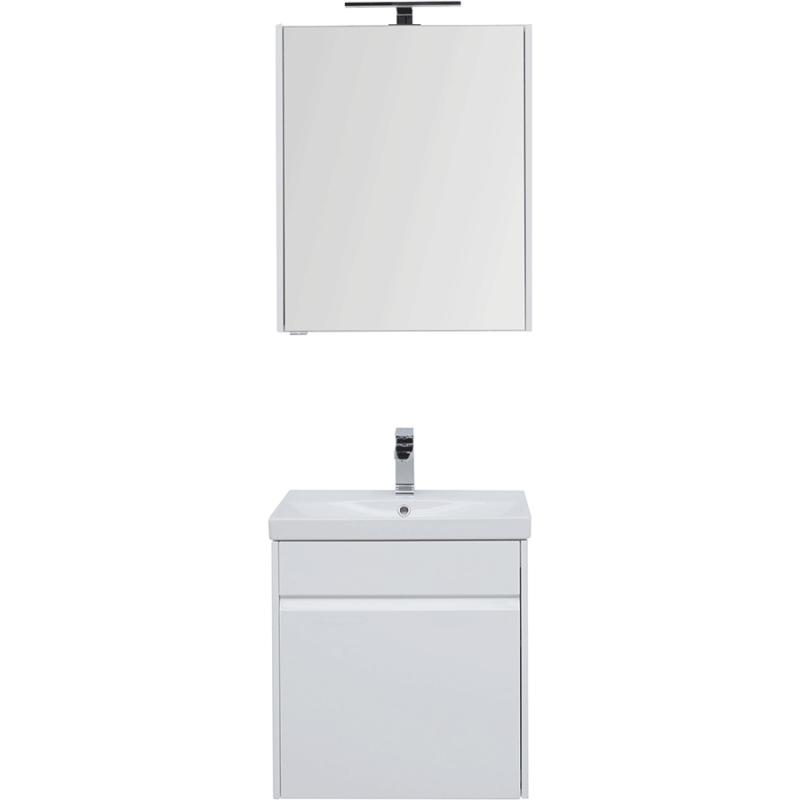 Фото - Комплект мебели для ванной Aquanet Палермо 60 209024 подвесной Белый глянец комплект мебели для ванной aquanet йорк 60 203642 подвесной белый глянец