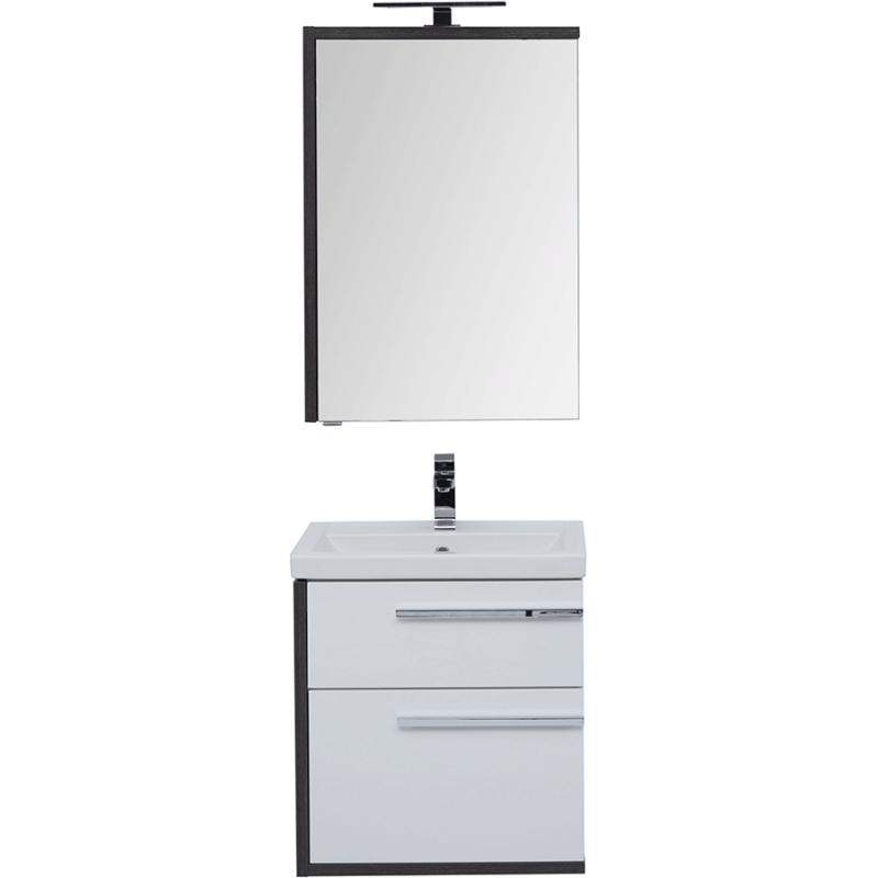 Комплект мебели для ванной Aquanet Фостер 60 209032 подвесной Белый Эвкалипт мистери раковина aquanet фостер 700