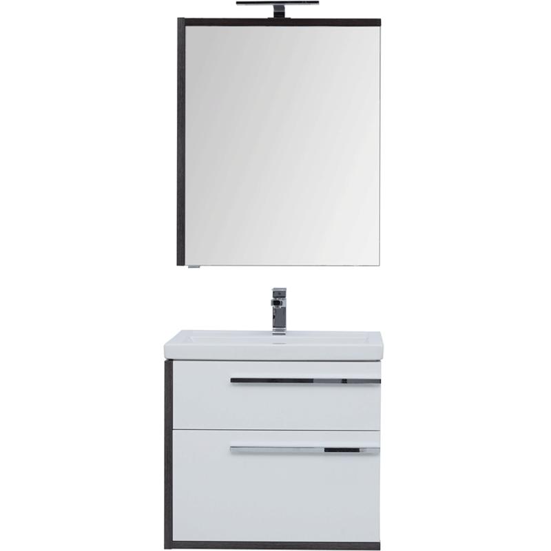 Комплект мебели для ванной Aquanet Фостер 70 209028 подвесной Белый Эвкалипт мистери раковина aquanet фостер 700