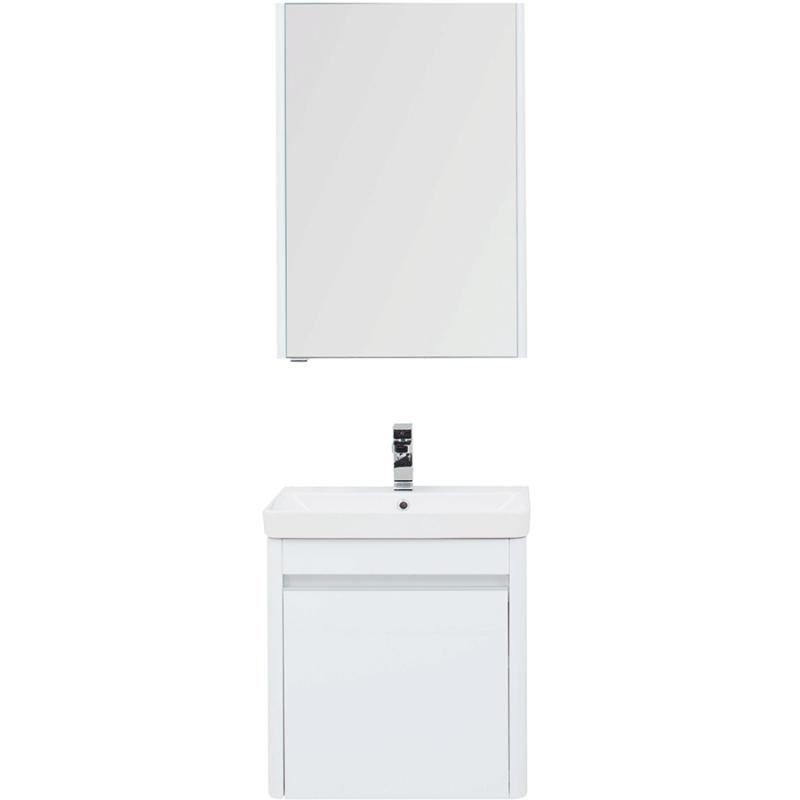 Фото - Комплект мебели для ванной Aquanet Вилора 60 203632 подвесной Белый глянец комплект мебели для ванной aquanet йорк 60 203642 подвесной белый глянец