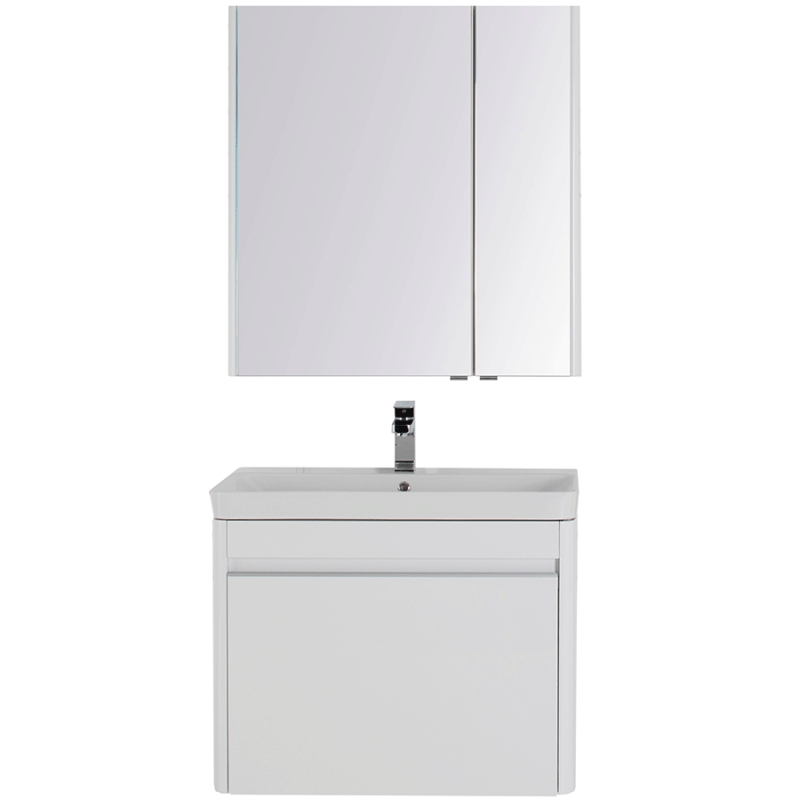 Комплект мебели для ванной Aquanet Вилора 80 203634 подвесной Белый глянец