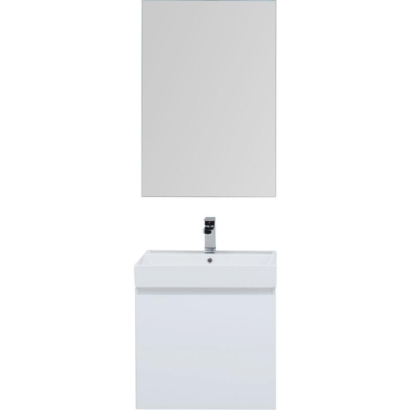Фото - Комплект мебели для ванной Aquanet Йорк 60 203642 подвесной Белый глянец комплект мебели для ванной aquanet йорк 60 203642 подвесной белый глянец