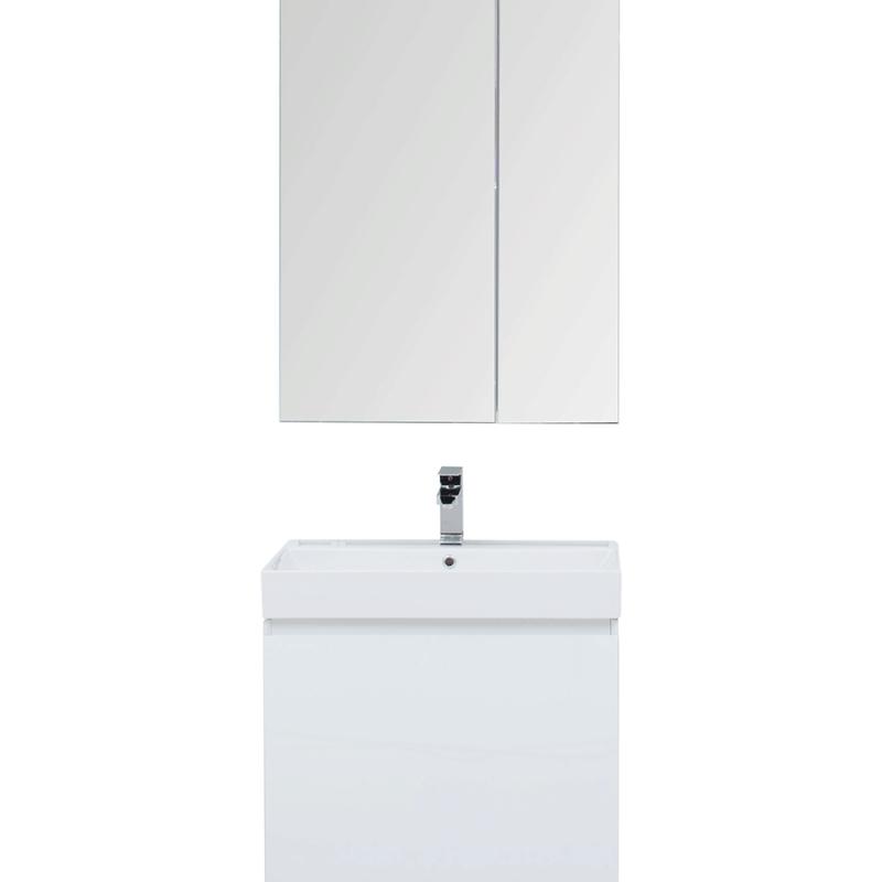 Комплект мебели для ванной Aquanet Йорк 70 203643 подвесной Белый глянец