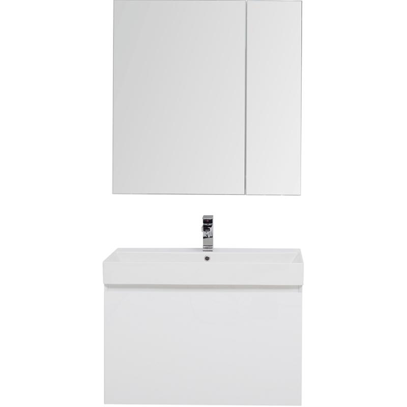 Фото - Комплект мебели для ванной Aquanet Йорк 85 203644 подвесной Белый глянец комплект мебели для ванной aquanet йорк 60 203642 подвесной белый глянец