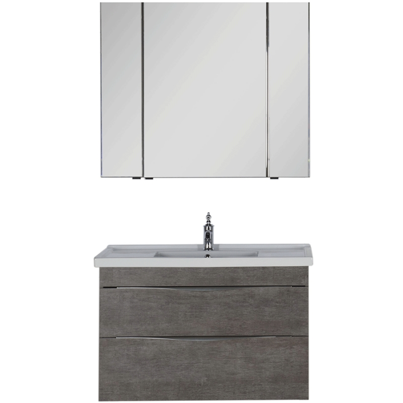 Комплект мебели для ванной Aquanet Эвора 100 183165 подвесной Дуб антик aquanet комплект мебели эвора 80 дуб антик