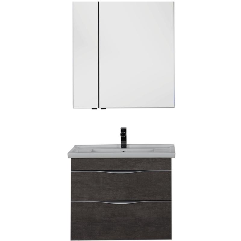 Комплект мебели для ванной Aquanet Эвора 80 183168 подвесной Дуб антик aquanet комплект мебели эвора 80 дуб антик