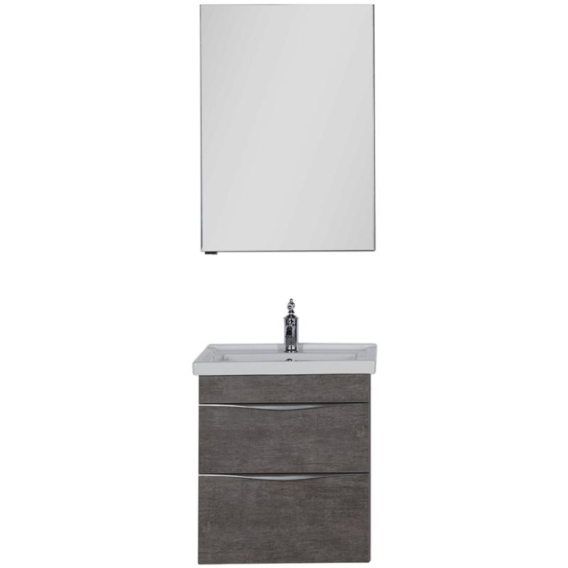 Комплект мебели для ванной Aquanet Эвора 60 183166 подвесной Дуб антик aquanet комплект мебели эвора 80 дуб антик
