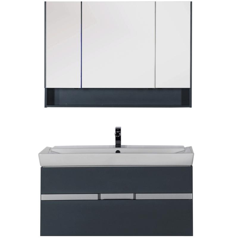 Комплект мебели для ванной Aquanet Виго 120 183670 подвесной Сине-серый