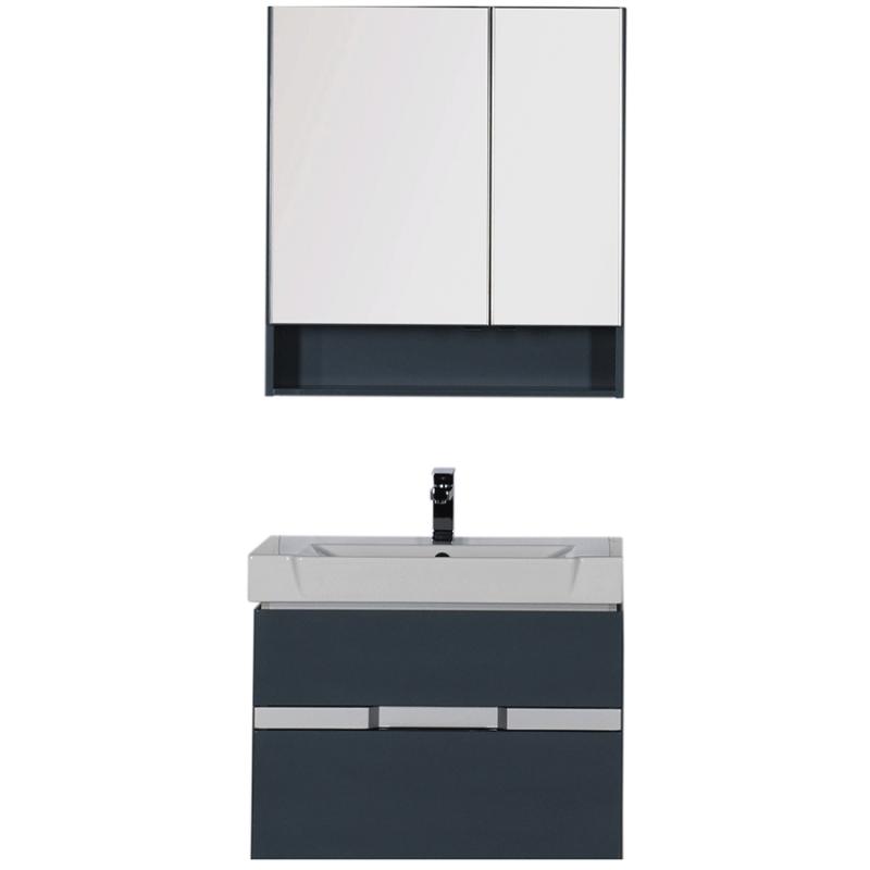 Комплект мебели для ванной Aquanet Виго 80 183673 подвесной Сине-серый