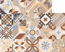 Керамический декор Rondine Swing J87772 Swng Beige Multicolor Mix 20,3х20,3 см