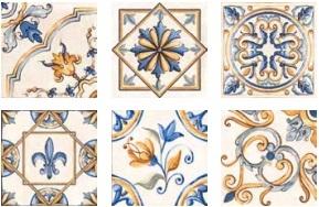 цена Керамический декор Rondine Tuscany J87743 Tscn Giotto Dec Mix 20,3x20,3 см онлайн в 2017 году