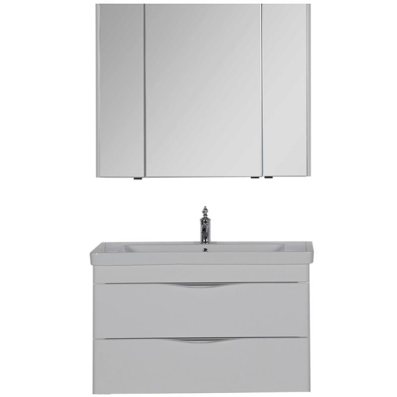 Комплект мебели для ванной Aquanet Орлеан 105 183182 подвесной Белый