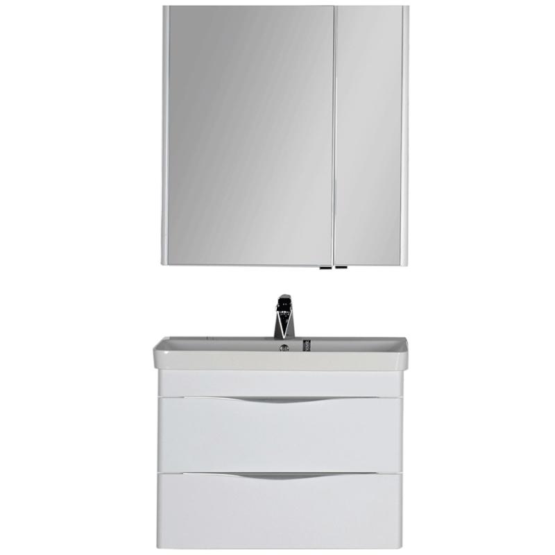 Комплект мебели для ванной Aquanet Орлеан 80 183185 подвесной Белый