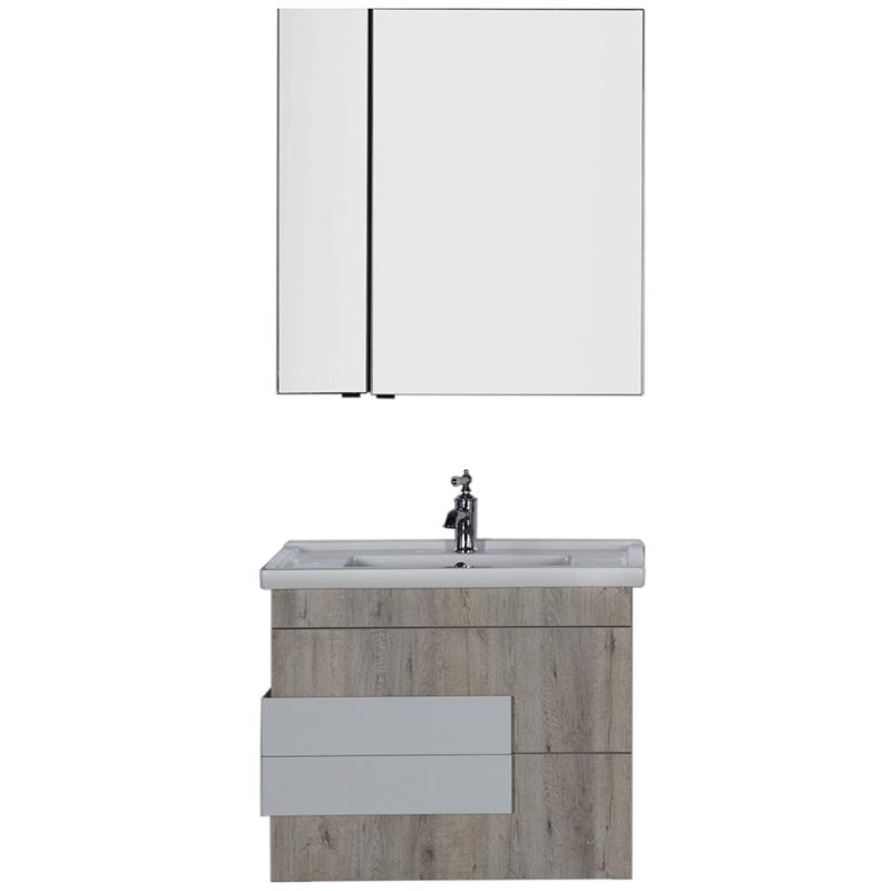 Комплект мебели для ванной Aquanet Мадейра 80 183162 подвесной Дуб кантри