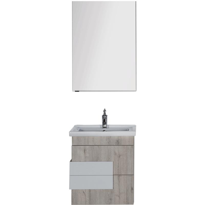 Комплект мебели для ванной Aquanet Мадейра 60 183160 подвесной Дуб кантри
