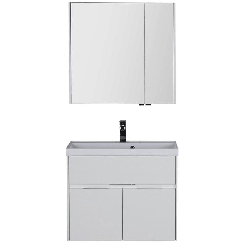 Комплект мебели для ванной Aquanet Латина 80 179839 подвесной Белый