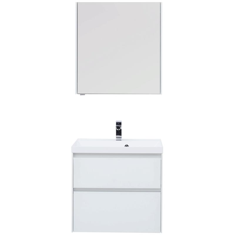 Комплект мебели для ванной Aquanet Гласс 70 240464 подвесной Белый