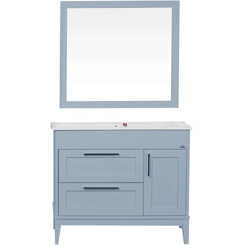 Комплект мебели для ванной ValenHouse Эйвори 105 AVК105С Серый ручки Хром