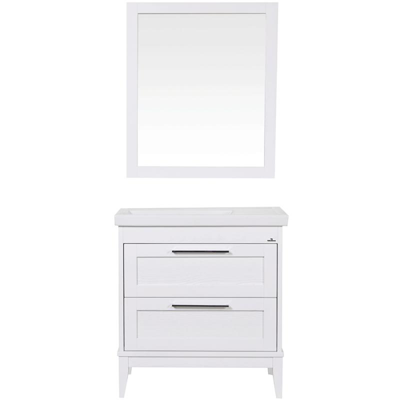 Комплект мебели для ванной ValenHouse Эйвори 80 AVК80Б Белый ручки Хром