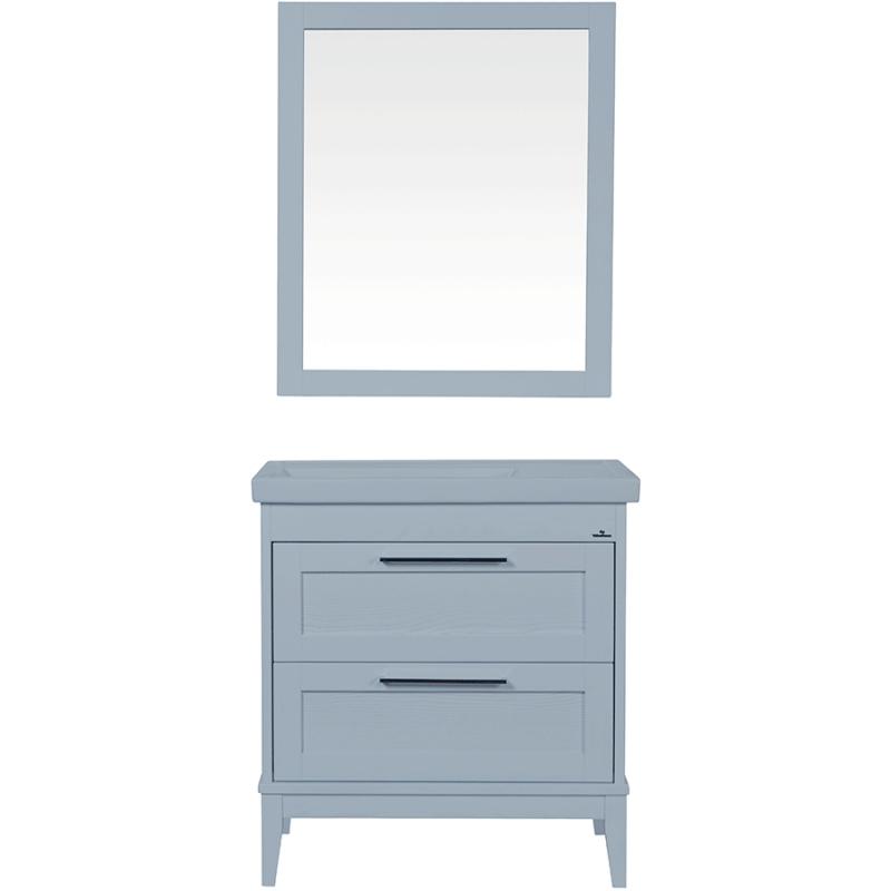 Комплект мебели для ванной ValenHouse Эйвори 80 AVК80C Серый ручки Хром