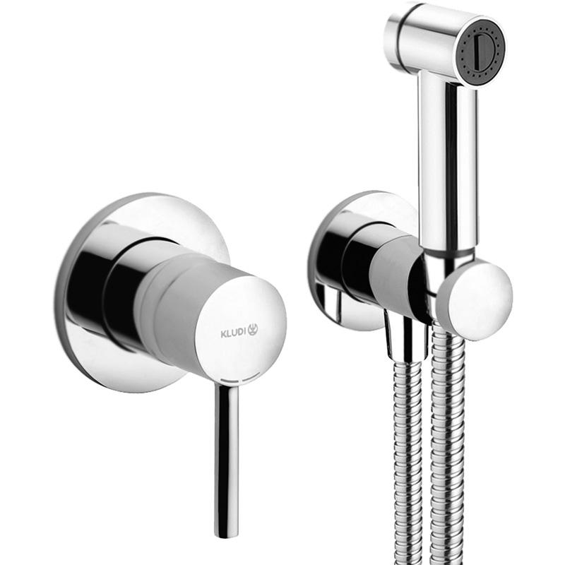Гигиенический душ со смесителем Kludi Bozz 389980576 Хром фото