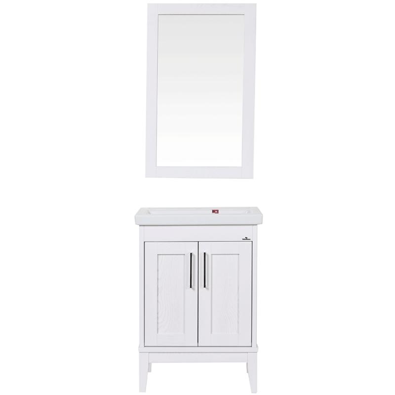 Комплект мебели для ванной ValenHouse Эйвори 60 AVК60Б Белый ручки Хром