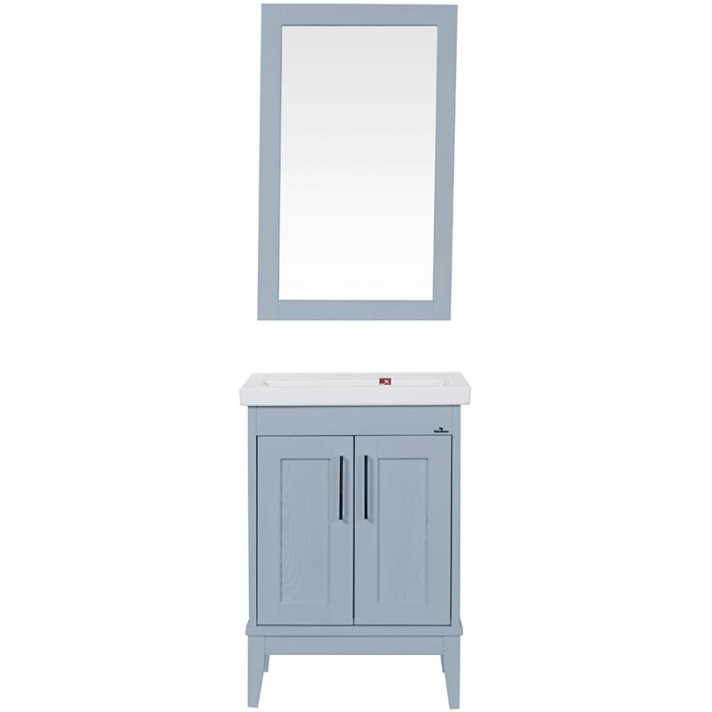 Комплект мебели для ванной ValenHouse Эйвори 60 AVК60C Серый ручки Хром
