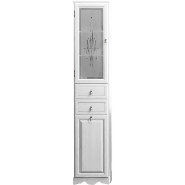 Шкаф пенал Opadiris Тибет 40 L Z0000012649 с бельевой корзиной Белый матовый фото