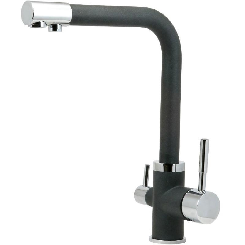 Смеситель для кухни Milacio Лидер F6508.308 Черный мобильный телефон lexand a4 big