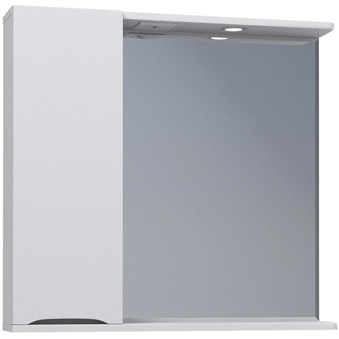 Зеркало со шкафом Vigo Minor 75 L №108-750-Л с подсветкой Белое зеркало со шкафом vigo callao 60 l с подсветкой белое