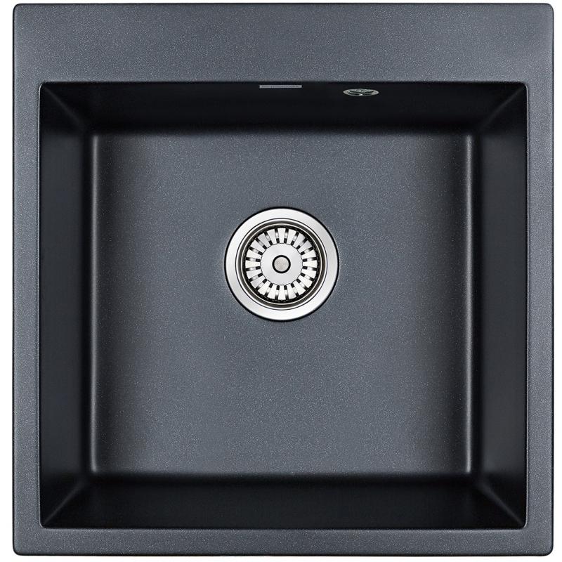 Кухонная мойка Paulmark Praktisch 51 PM105152-BLM Черный металлик
