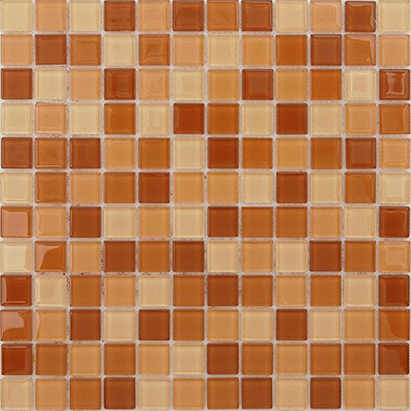 Стеклянная мозаика Caramelle mosaic Acquarelle 4 мм Habanero 29,8х29,8 см