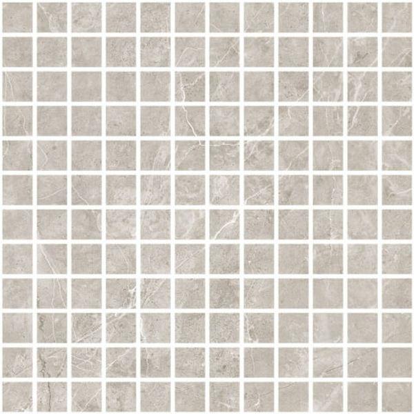 Мозаика Caramelle mosaic Marble Porcelain Nuvola grigio полированная 30х30 см