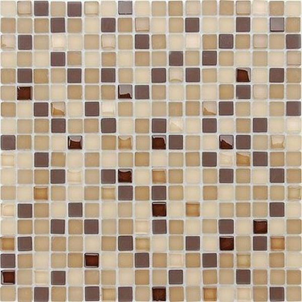 Стеклянная мозаика Caramelle mosaic Naturelle 4 мм Bohemia 30,5х30,5 см