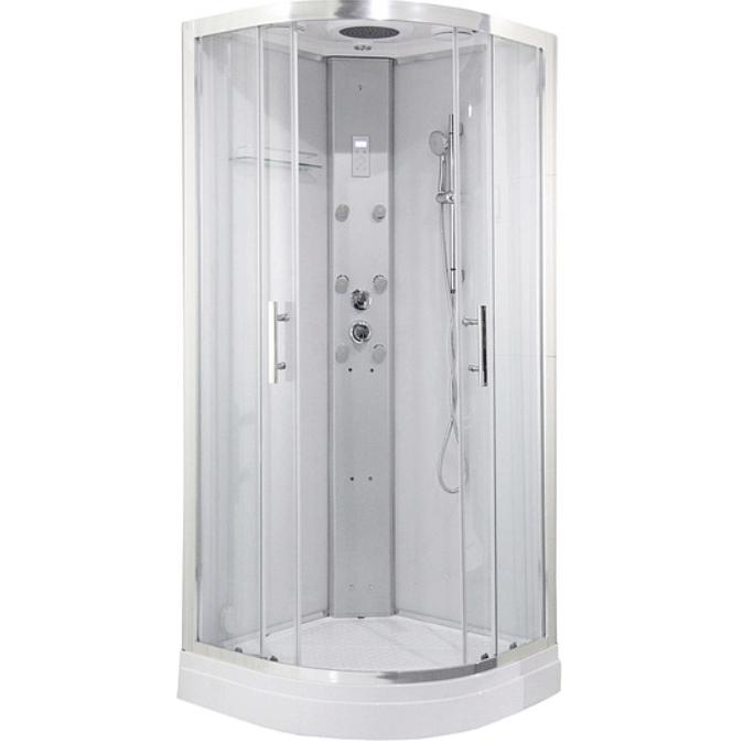 Душевая кабина Orans SR-86150S 90x90 с баней профиль Белый задние стенки Белые душевая кабина aquanet gt 230 80x80 белые задние стенки