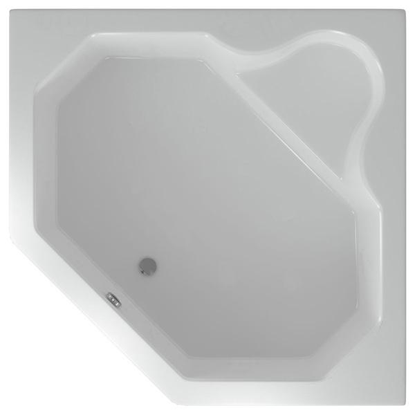 Акриловая ванна Акватек Лира 148x148 с гидромассажем плоские форсунки
