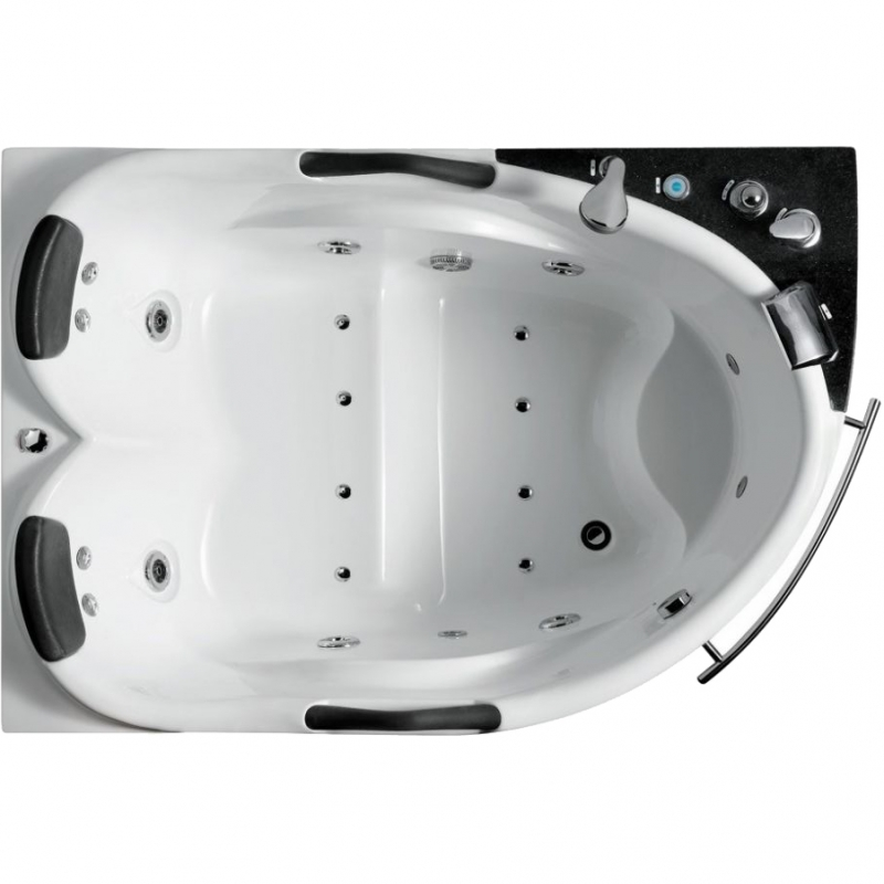 Акриловая ванна SSWW A304 173х126 L с гидромассажем ванна ssww pa4104 акрил угловая