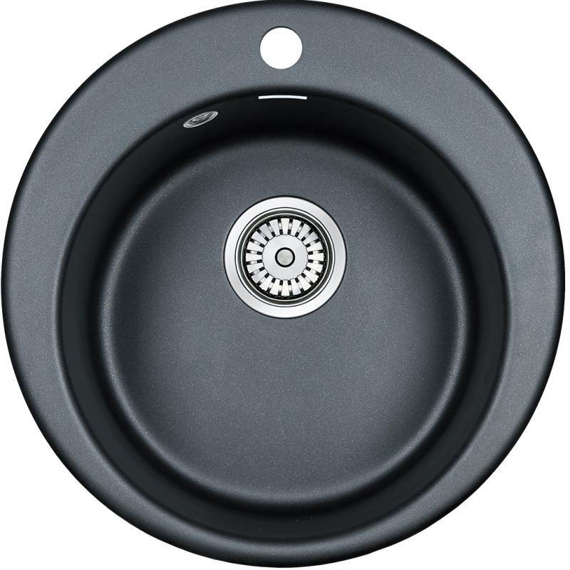 Кухонная мойка Paulmark Gelegen 47 PM404800-BLM Черный металлик фото