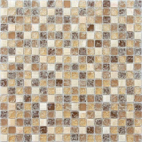 Стеклянная мозаика Caramelle mosaic Naturelle 8 мм Amazonas 30,5х30,5 см мозаика из стекла и камня 30 5х30 5х0 8 amazonas желто бежевая