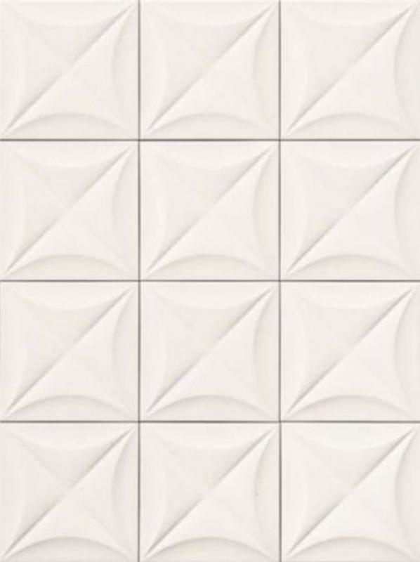 Керамогранит Marca Corona 4D Flower White 20х20 см