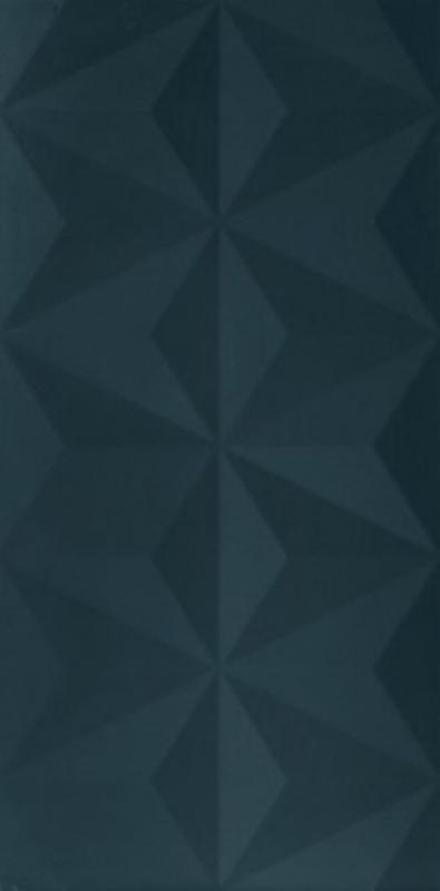 Керамическая плитка Marca Corona 4D Diamond Deep Blue Matt Rett настенная 40х80 см