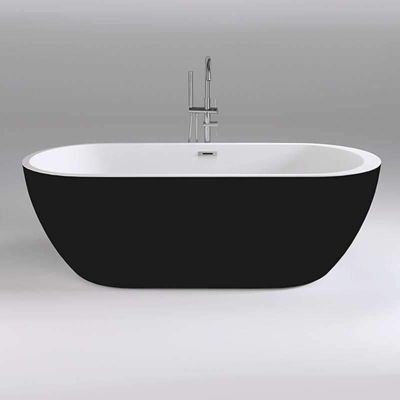 Акриловая ванна Black&White Black Swen 170x80 SB105 Black без гидромассажа