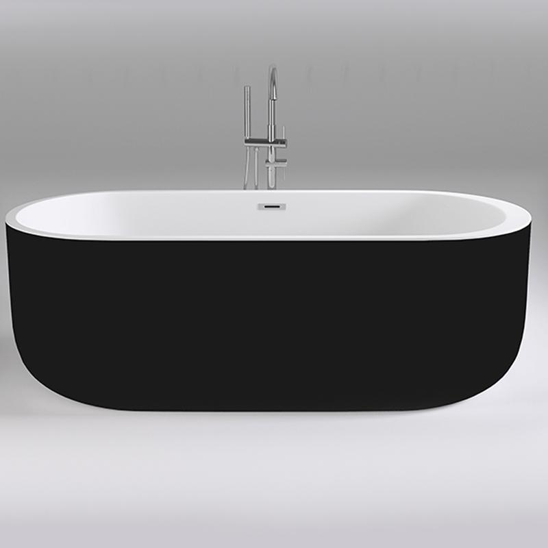 Акриловая ванна Black&White Black Swan 170x80 SB109 Black без гидромассажа