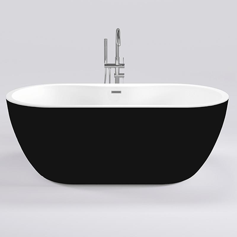 Акриловая ванна Black&White Black Swan 180x75 SB111 Black без гидромассажа