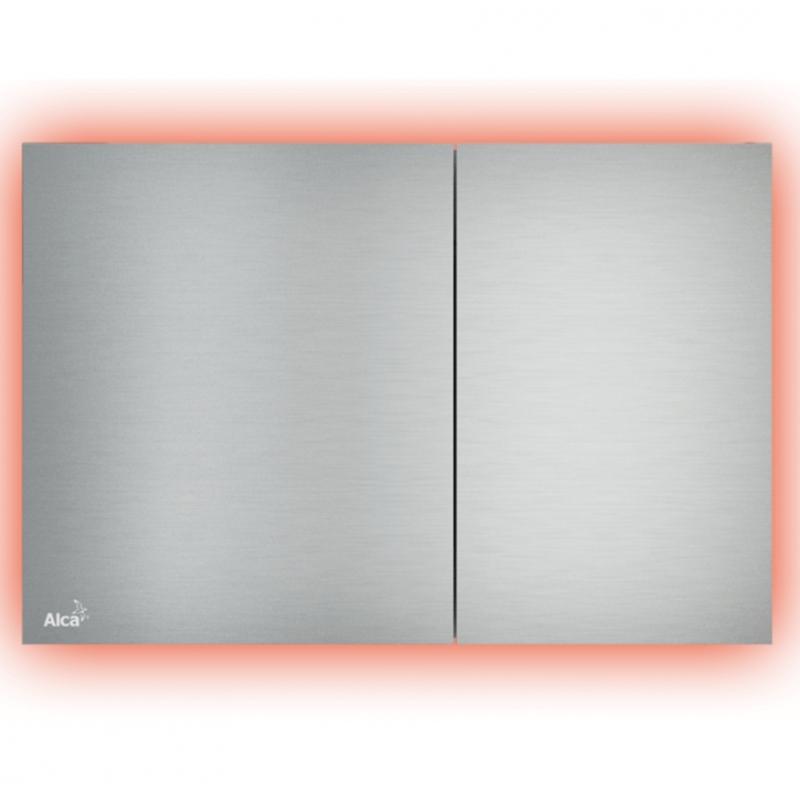 Клавиша смыва Alcaplast Flat Alunox-Illuminated AIR LIGHT R с подсветкой Матовый металл