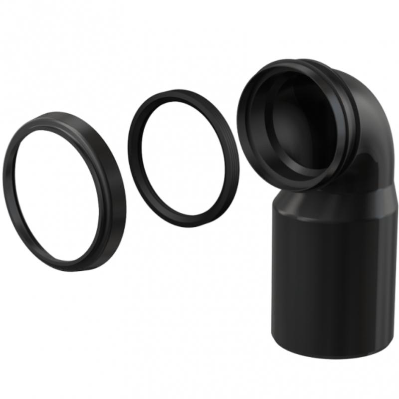 Колено выпускное для унитаза Alcaplast M906 Черное колено выпускное для унитаза alcaplast a90 90p40 белый
