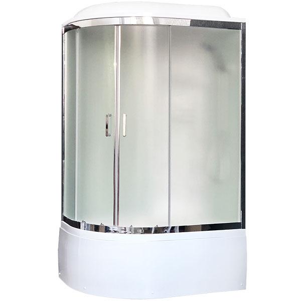 Душевая кабина Royal Bath ВК 120x80 RB8120BK3-WC-CH-R с гидромассажем стекло матовое задние стенки Белые душевая кабина royal bath bk 100х100 rb100bk3 wc с гидромассажем