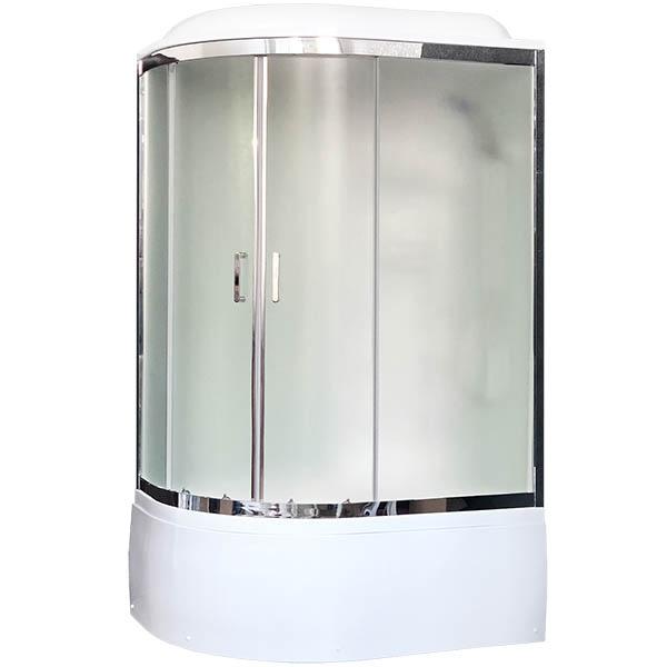 Душевая кабина Royal Bath ВК 120x80 RB8120BK6-WC-CH-R стекло матовое задние стенки Белые душевая кабина royal bath вк 120x80 rb8120bk2 m ch r с гидромассажем стекло матовое задние стенки белые